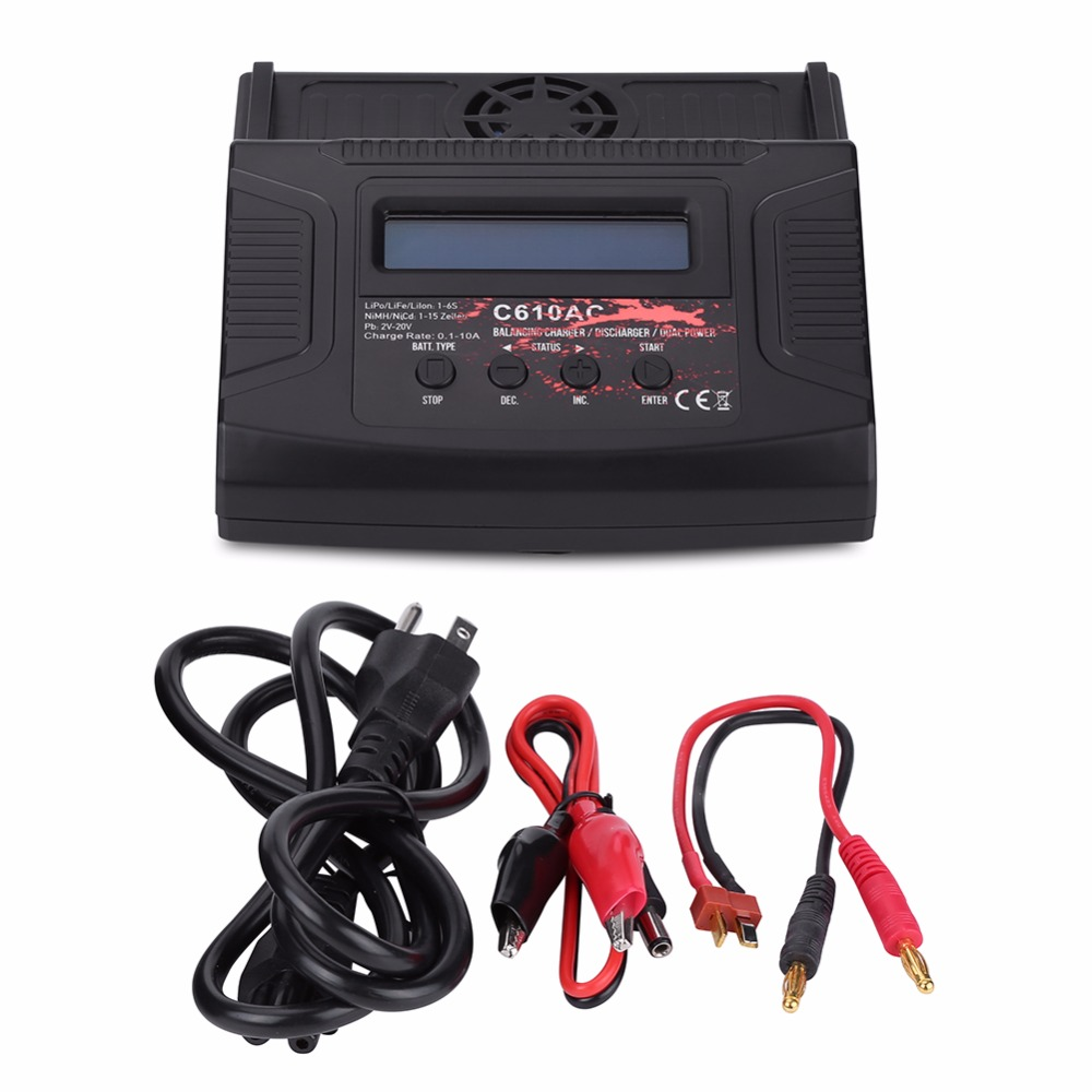 RC 100W 10A AC/DC RC Lipo Battery Charger Balance Charger High Quality Discharger for LiPo LiFe Lilon NiCd NiMh Pb Battery skyrc d100 2 100w ac dc dual balance charger 10a charge 5a discharge nimh lipo battery charger twin channel charge