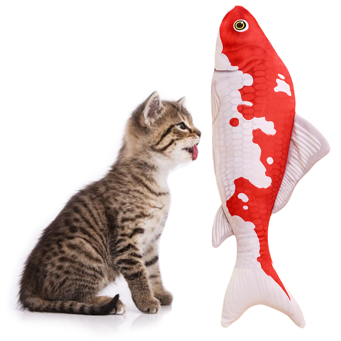 Hot! 1PC Creative Pet Cat Kitten Chewing Cat Toys Catnip Stuffed Fish Interactive Kitten Product Cat Supplies