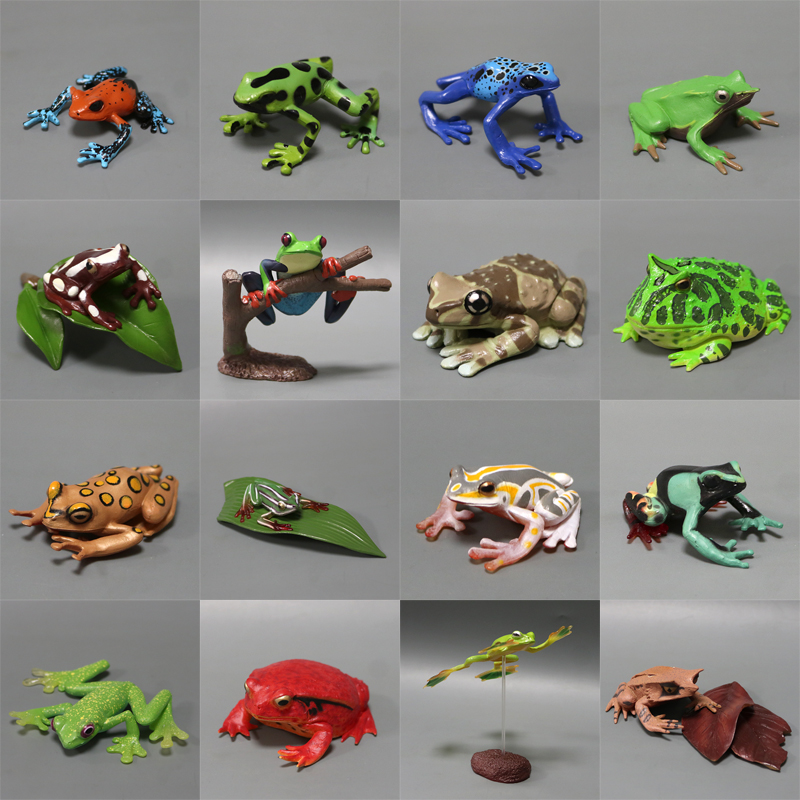 pvc figure Simulation Animal Model Tropical Rain Forest Amphibian Frog Frog Horned Frog set forest utilization by local communities in sinharaja rain forest