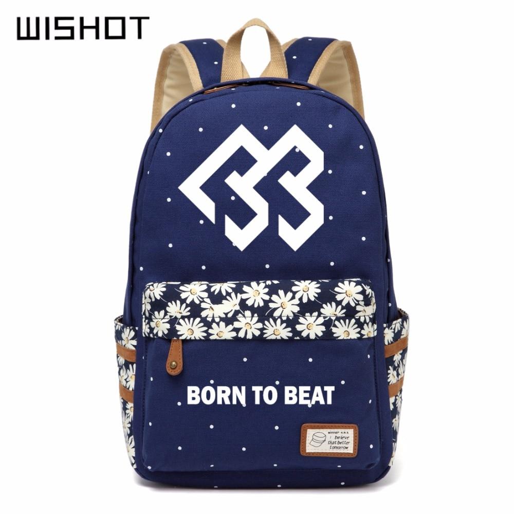 Backpacks Wishot Seventeen 17 Backpack Canvas Bag Schoolbag Travel Shoulder Bag Rucksacks For Women Girls Keep You Fit All The Time Men's Bags