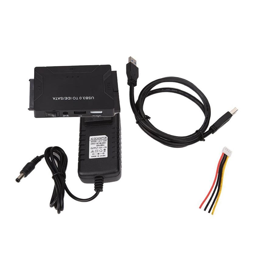 2017 Hot USB3.0 to IDE / SATA Converter USB IDE SATA Adapter Hard Drive SATA to USB 3.0 DATA Transfer EU jun21