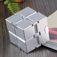 INFINITY CUBE EDC Toys Cube Decompression Aluminum Alloy Decompression Toy Puzzle Fidget Desk Toys Office Metal Cube
