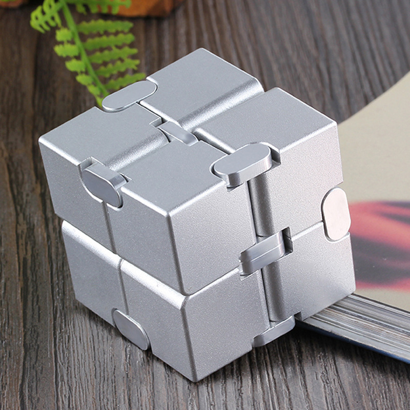 INFINITY CUBE EDC Toys Cube Decompression Aluminum Alloy Decompression Toy Puzzle Fidget Desk Toys Office Metal Cube