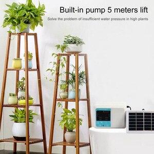 Image 5 - Tropf Bewässerung Solar Bewässerung System Energie Drei Outlets Timed Automatische Bewässerung Gerät Anlage Miniatur Membran Pumpe
