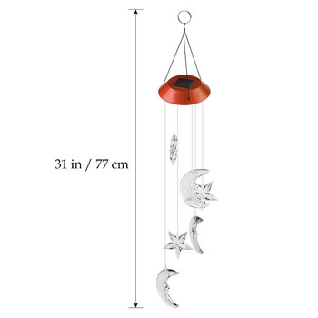 LED Color-Changing Wind Chime Solar Light 3