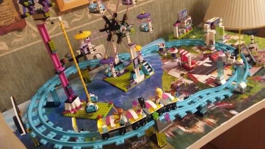01008 1024pcs Compatible with Lego blocks Friends 41130 Amusement Park Roller Coaster figure Model building toys hobbie children все цены