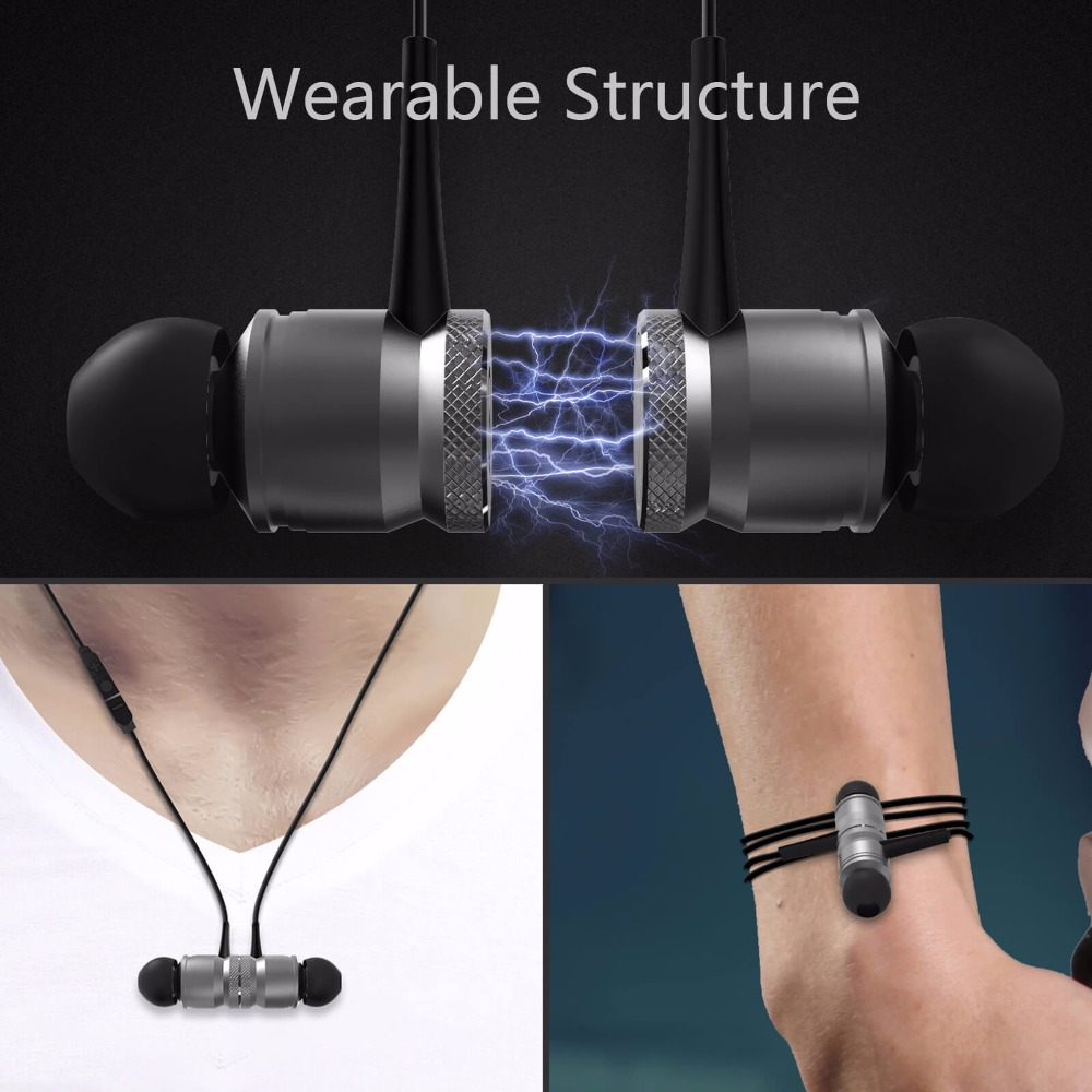 W2 Wearable Hifi Bluetooth Earphone With Mic Wireless Earphones Sport Running Bluetooth Headsets For iPhone Xiaomi Android Phone 2017 ttlife mini wireless earphone bluetooth headsets airpods with mic 2 in 1 with car charger for iphone 7 xiaomi mobile phones