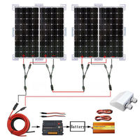 400 Вт солнечной системы 4X100 Вт моно солнечные панели W/1000 Вт Инвертер зарядки 24 В