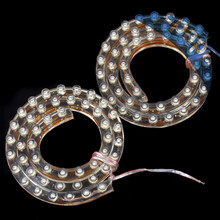 Brand New 1pair 50cm 48 LED light 12V 2W Universal Strip Style White Car Daytime Running Light