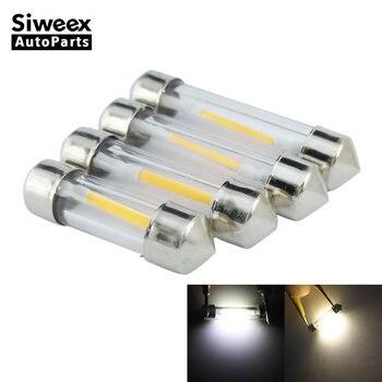 цена на 2 Pcs 31MM 36MM 39MM 41MM Car LED Dome Festoon Lights Indicator Bulb Reading Map License Plate Lamp DC 12V White Warm White