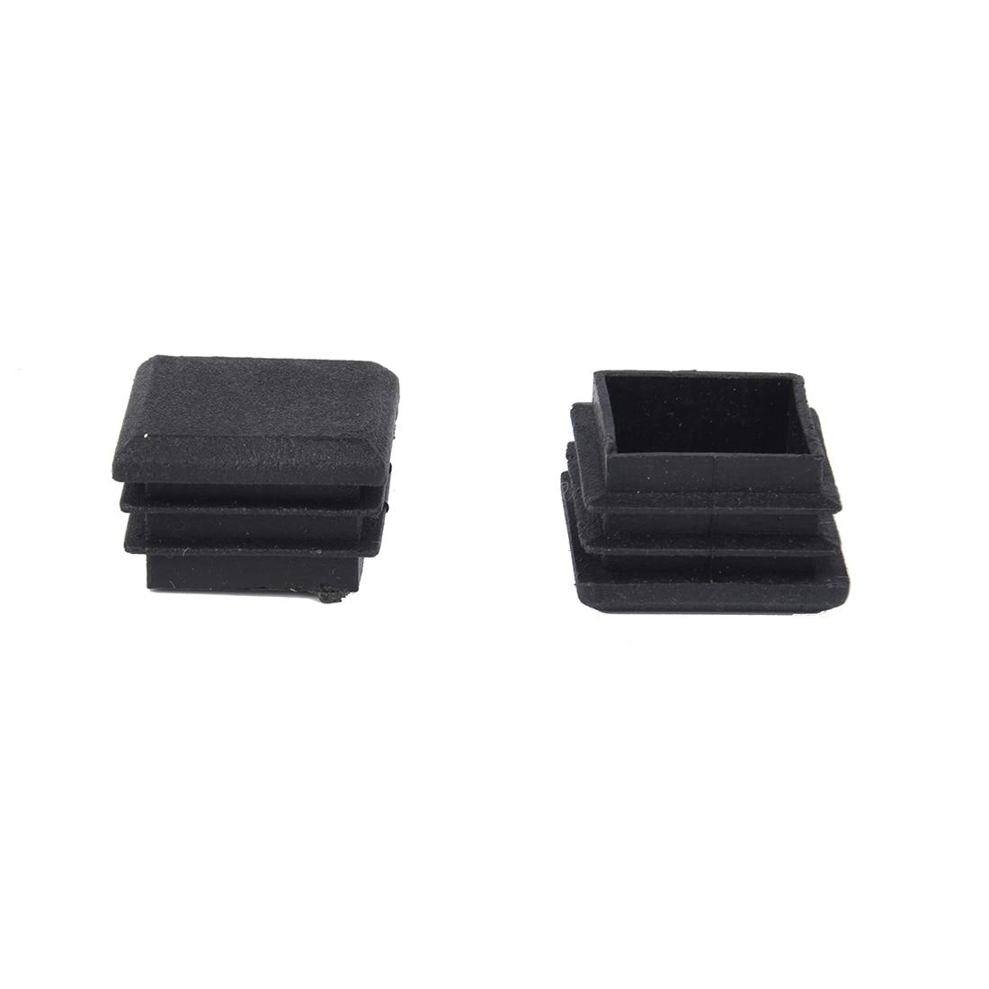 Nhbr 10 Pcs Black Plastic Square Tube Inserts End Blanking Cap 25mm X 25mm Furniture