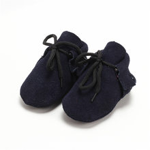 Baby Boys Girls Shoes Infant Genuine Suede Leather Children Kids Newborn Toddler Moccasins Soft Sole Lace Up Ankle Boots Shoe(China)