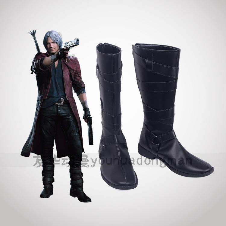 Devil May Cry 5 DMC Dante Cosplay Shoes Men Boots  Shoes Anime