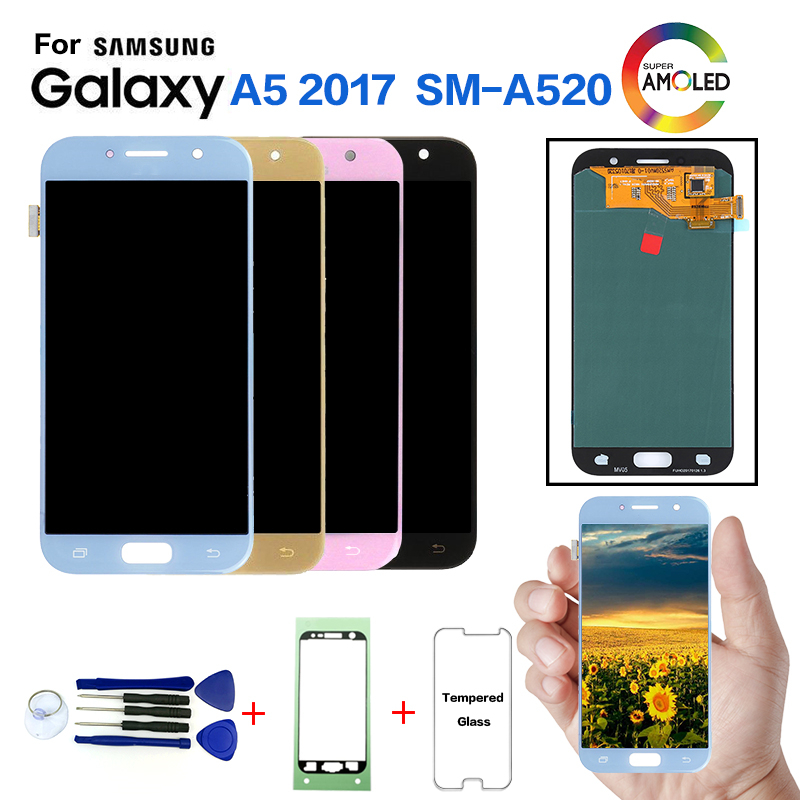 DISPLAY LCD TOUCH SCREEN ORIGINALE SAMSUNG GALAXY A5 2017 A520F SM-A520F GOLD
