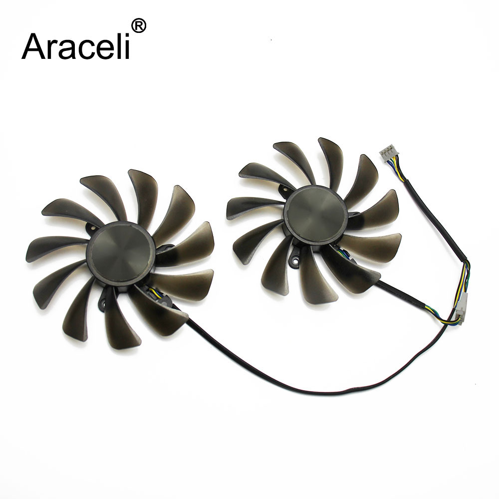 2pcs/set 95MM GAA8S2U GTX 1070 Ti 1080 Ti For ZOTAC <font><b>GeForce</b></font> <font><b>GTX1070Ti</b></font> GTX1080Ti AMP Edition Core Video Cards Cooling image
