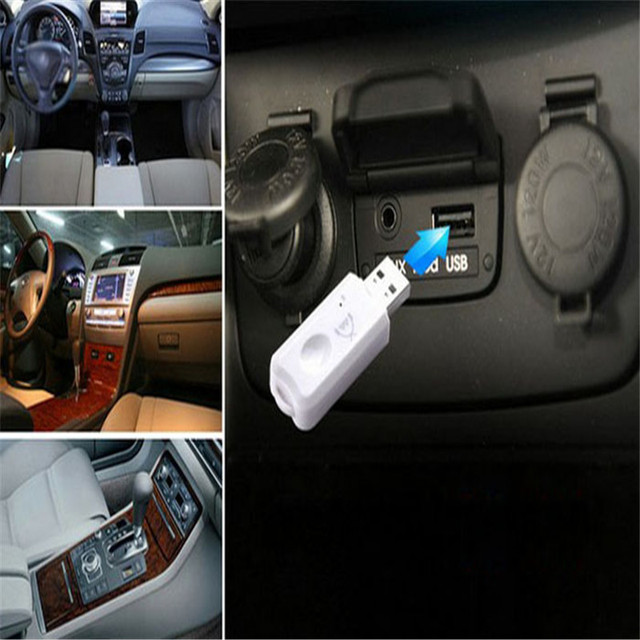 New arrival Hot sale Blue Wireless USB Bluetooth Audio Music Receiver Adapter For iphone4 5 6 iphone6 note 4 speakers car