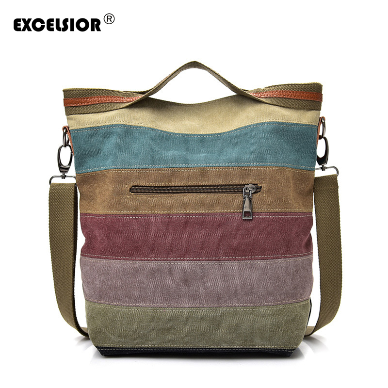 EXCELSIOR Thick Canvas Women's Shoulder Bag New Crossbody Bag For Female 2019 Designer Shopper Bags Sac A Main Femme Bolso Mujer