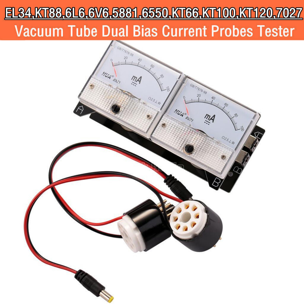 2017 New Nobsound HiFi Dual Bias Current Probes Tester Meter for EL34 KT88 6L6 6V6 6550