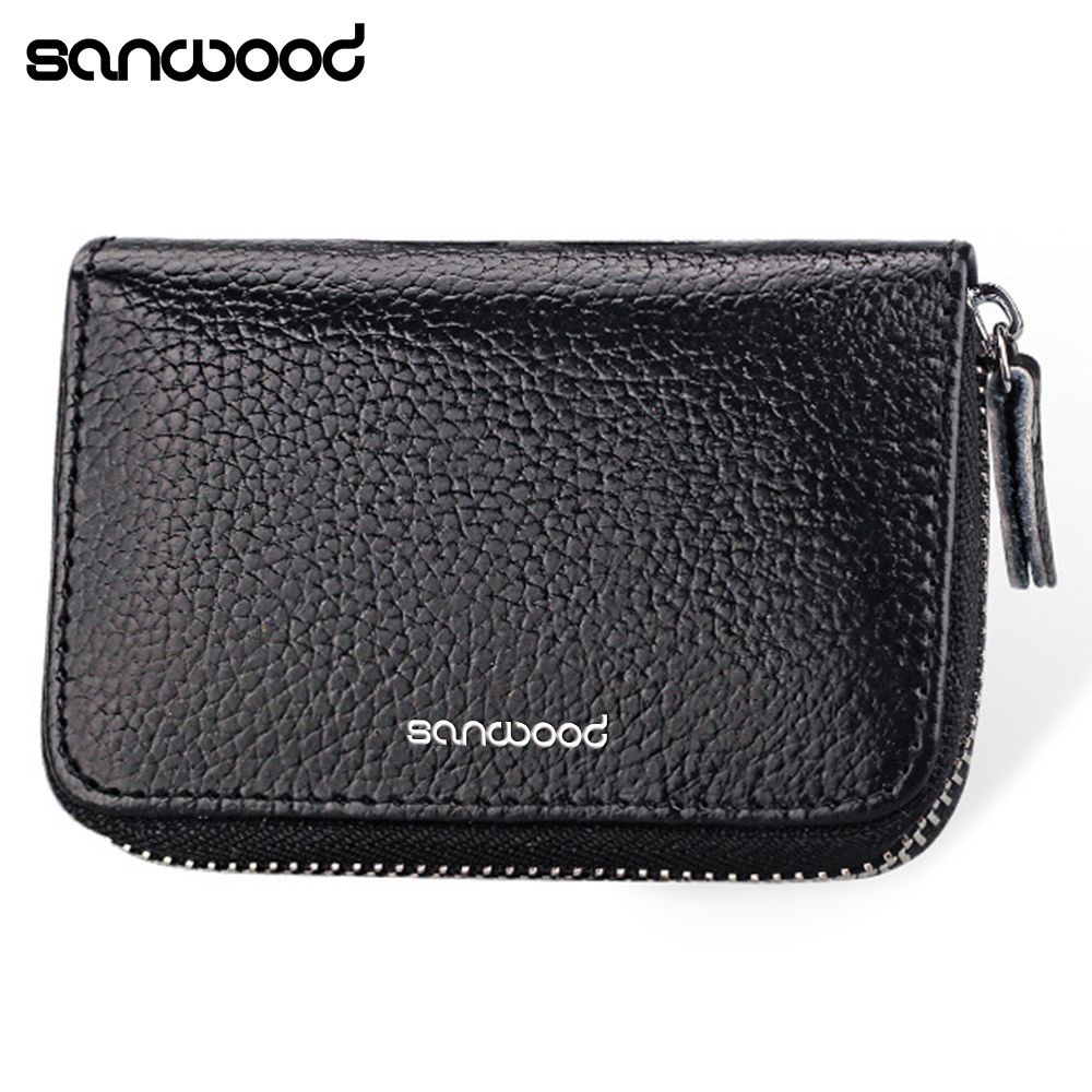 Mens Womens Faux Leather Pocket Business ID Credit Card Wallet Holder Case ...