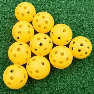 Image 3 - 20 개/몫 41mm 골프 훈련 공 플라스틱 공기 흐름 구멍 골프 공 야외 골프 연습 공