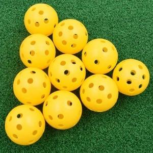 Image 3 - 20pcs/lot 41mm Golf Training Balls Plastic Airflow Hollow with Hole Golf Balls Outdoor Golf Practice Balls