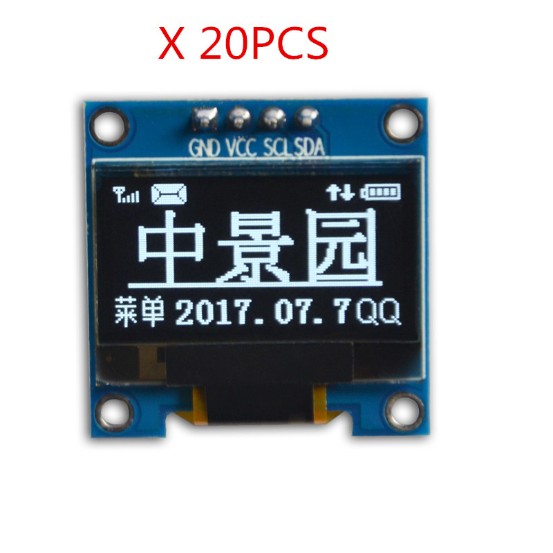 Free shipping 20pcs/lot 0.96 inch 4pin OLED Module SSD1315 Drive IC 128*64 I2C IIC Communication