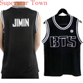 V Camisa Hip hop Dança Topos Camisa Bts Bangtan BTS Jimin Kpop Bangtan Meninos Suga T-shirt Coreano Camisa