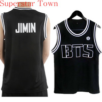 2015 New BTS Bangtan Basketball Jersey Hip Hop Dancing Shirt Sports Tops