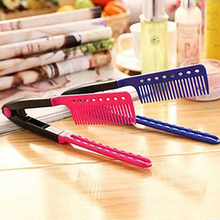 Fashion Beauty V Type Hair Straightener Comb DIY Salon Hairdressing Styling Tool