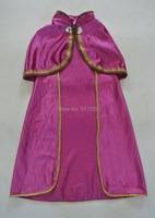 Free ship children girls crystal beading anna cloak costume/ anna princess cape