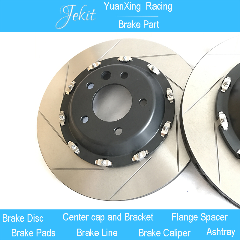 Car accessaries brake rotors 380*34mm slot with floating center bell for Brembo GT6 brake caliper for Audi A4 B7 Quattro S line