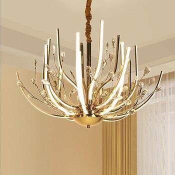 بسيط k9 كريستال الثريات ما بعد الحداثة acryliclighting led بريقا الإبداعية غرفة المعيشة أضواء المصابيح مطعم تركيبات