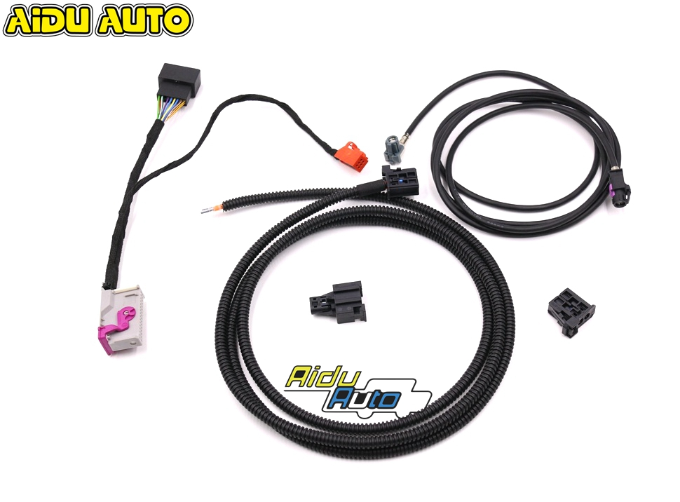 liquid Crystal Virtual Cluster LCD Instrument installation Install Harness Wire For Audi A3 8V