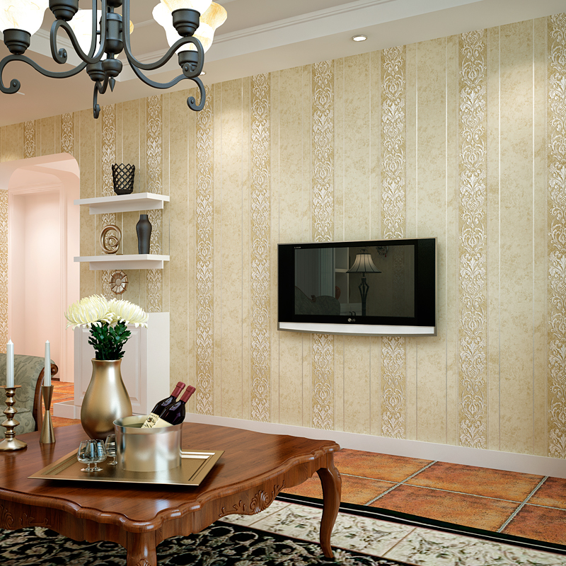 Aliexpress.com : Buy Luxury European Style Striped Damask Wallpaper For  Walls 3D Bedroom Living Room Sofa Home Decor Flower Pattern Modern Wall  Paper From ... Part 91