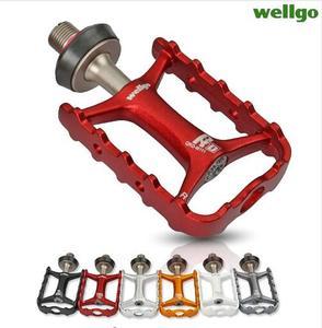 Wellgo оригинальные быстросъемные велосипедные педали M111, не быстросъемные сверхлегкие педали для дорожного велосипеда, MTB велосипедные педа...