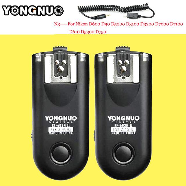 Yongnuo rf-603 n3 ii radio flash inalámbrico remoto disparador para nikon d90 d5000 d5100 d7000 d3100 d600 d610 d5300 d7200 D5200