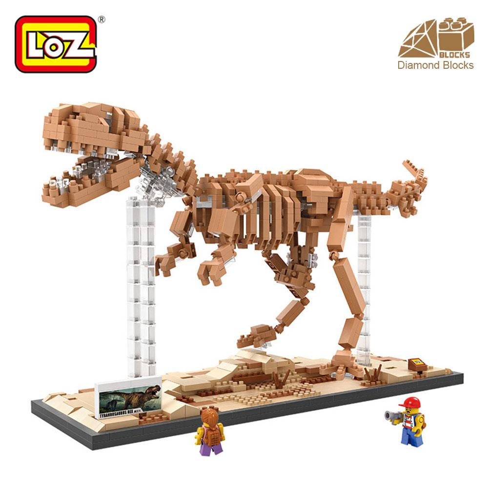 Mr.Froger LOZ Tyrannosaurus Rex Diamond Block Creator Series Dinosaur - Konstruktionslegetøj