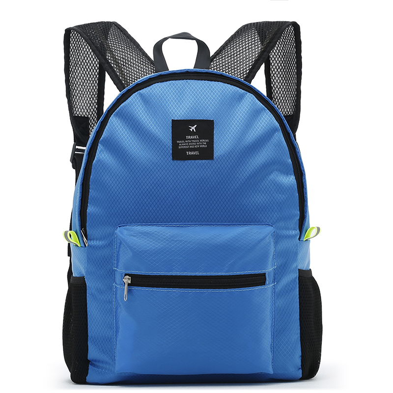 Casual Fashion Backpack Women Leisure Travel Backpacks For Teenage Girls School Bags Female Nylon Waterproof Folding Rucksack 17