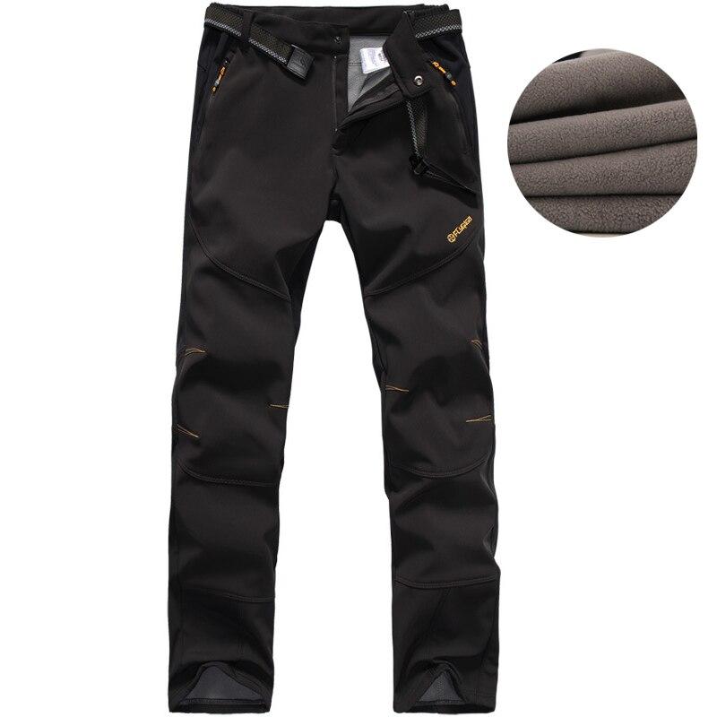 Pantalons de randonnée en plein air automne hiver ski Camping cyclisme Trekking hommes pantalons de Sport épais velours chaud Softshell pantalons de Sport