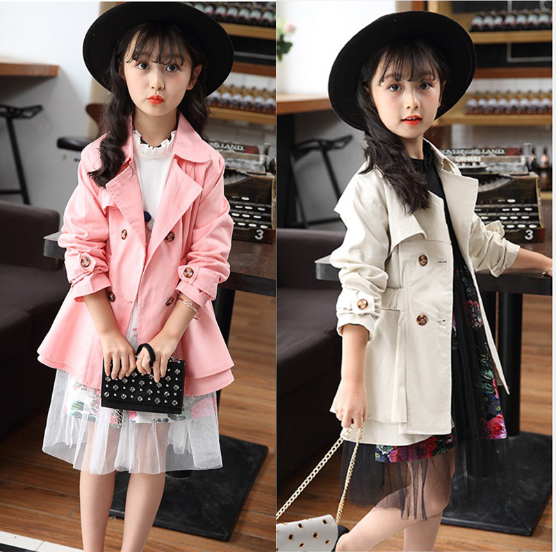 390708123 New Girls Trench Coat Spring Children Clothing Kids Blazer Jackets ...