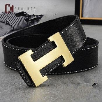 7cd1acff87 2019 diseñador de lujo marca H cinturones de diseñador hombres de alta  calidad hombre cuero auténtico mujeres cinturón H hebilla correa para  vaqueros