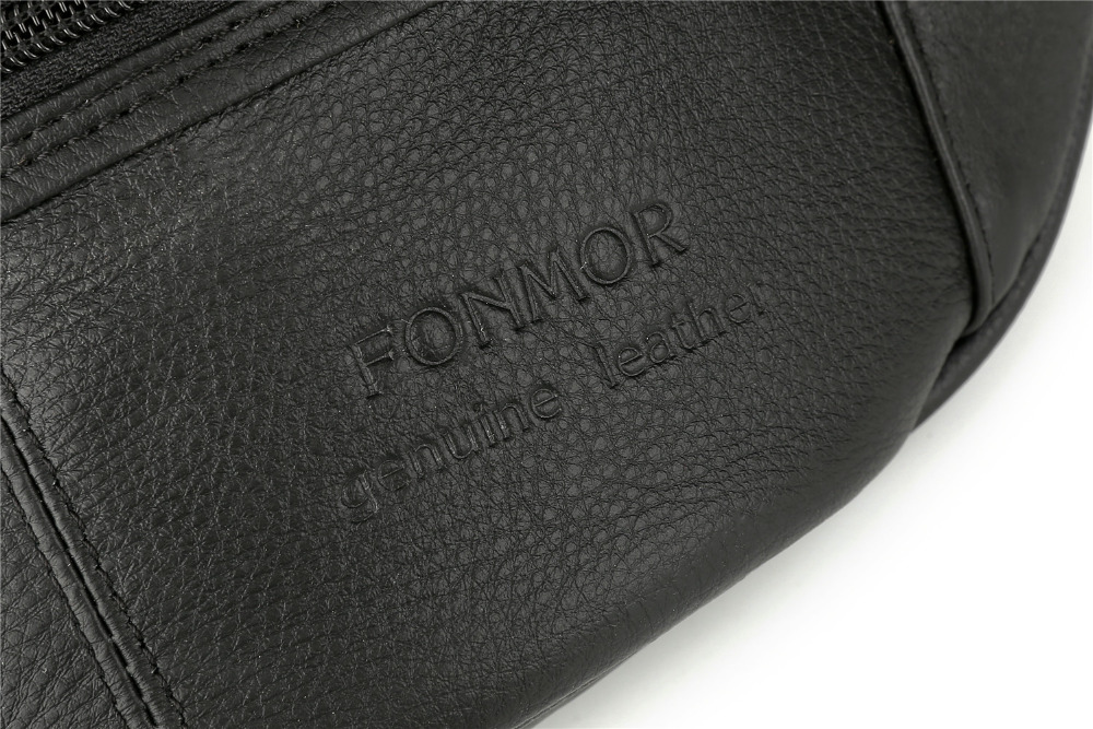 Topdudes.com - Genuine Cowhide Leather Small Travel Waist Pack