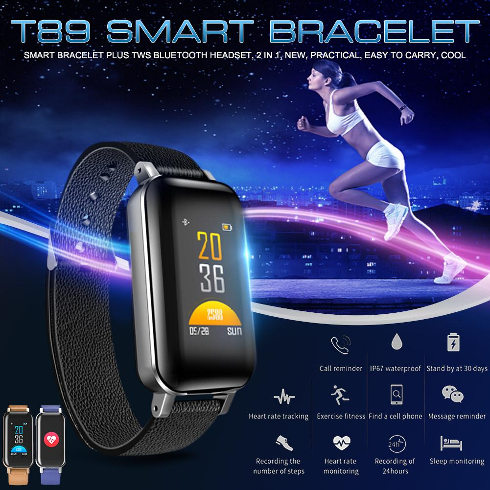 2-in-1 Smart Bracelet Fitness Tracker TWS Bluetooth5.0 Earphone IP67 Waterproof Sports Wristband Headphones with bracelet2-in-1 Smart Bracelet Fitness Tracker TWS Bluetooth5.0 Earphone IP67 Waterproof Sports Wristband Headphones with bracelet