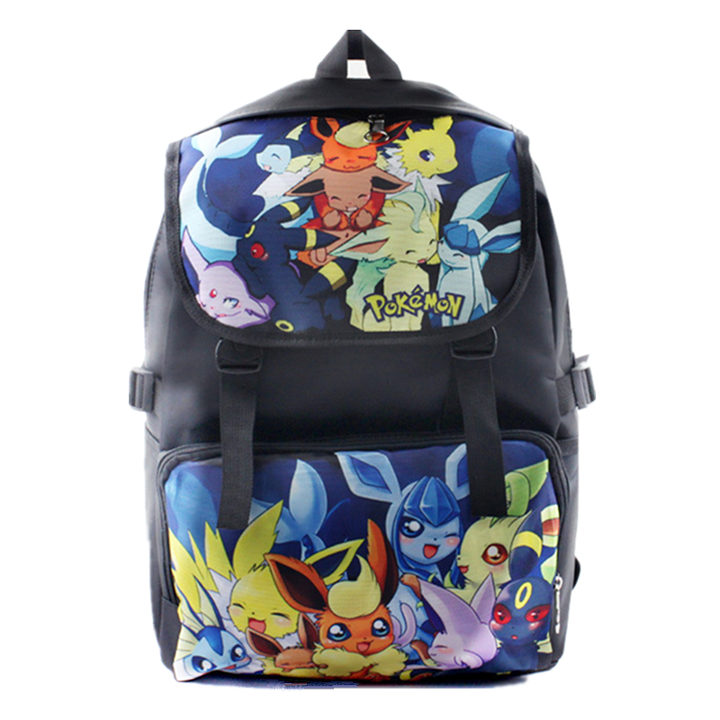 Hot Pokemon Go Backpack Cartoon anime Pikachu SchoolBag Game Pocket Monster Eevee Picachu Computer Backpacks Fashion Travel Bags climate 2017 pocket monster go game pikachu flat snapback caps adult men women animation cartoon cute comic orange eevee hat cap
