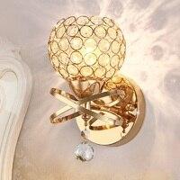 Kreative Kristall LED Wand lampe 5W E27 90-260V Foyer Schlafzimmer Nacht Lampen Korridor Gang Veranda Wand leuchte luminaria