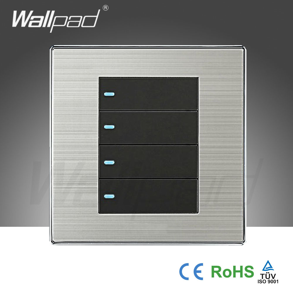 2017 Hot Sale 4 Gang 2 Way Wallpad Luxury Light Switch Wall