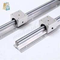 2pcs Sbr10 1000/1100/1200mm Linear Rail Support With 4pcs Sbr10uu Linear Guide Auminum Bearing Sliding Block Cnc Parts