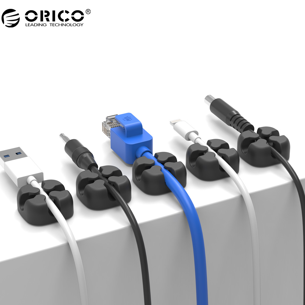 ORICO Desktop Cable Clip Cable Winder Wire Organizer Cable Cord Holder Management System Wire Earphone Winder usb cable organizer clamp desktop cord management wire winder holder