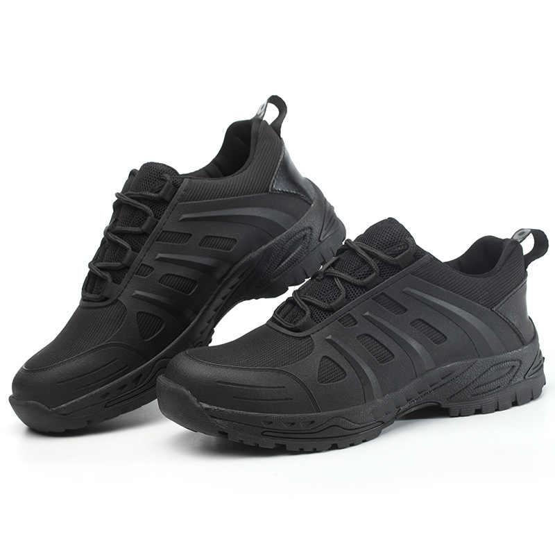 Güvenlik ayakkabıları erkek çelik ayak hafif Anti-smashing Unisex iş Sneakers nefes aşınmaya dayanıklı hem erkekler hem de kadın