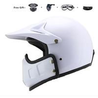 motorcycle vespa helmet vintage open face 3/4 helmet inner visor motocross jet retro capacete casque moto helmet DOT white